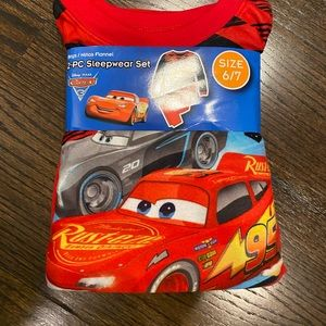 COPY - NWT Cars Flannel Sleepware Boys 6/7